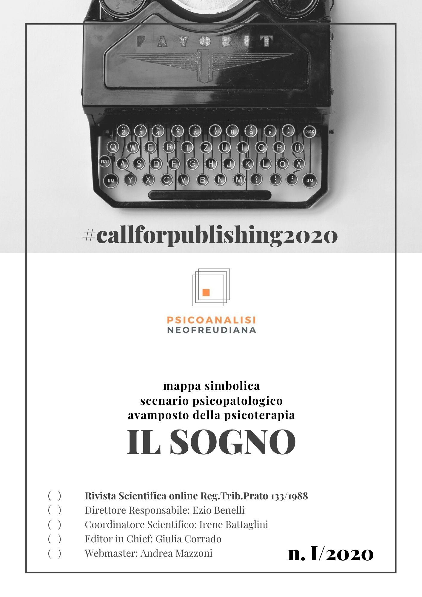N 1.2020 PSICOANALISI NEOFREUDIANA CALL FOR PUBLISHING